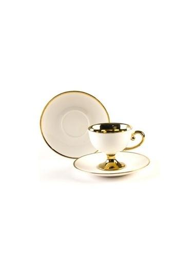Sembol Gold-Beyaz 6 Lı Kahve Takımı Renkli